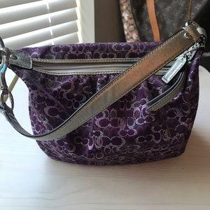 Purple and Silver Coach Handbag